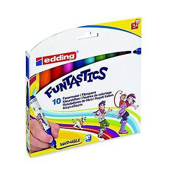 edding-14 Funtastics fibre pens 3mm assorti 10 colors 4-14-10