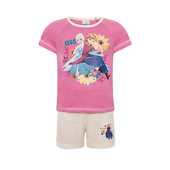 ديزني المجمدة إلسا آنا هدية رسمية طفل صغير الفتيات بيجامة قصيرة