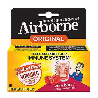 Airborne immune support effervescent tablets, very berry, 10 ea
