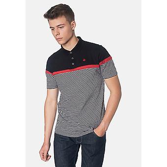 Merc CLARENCE, Colour Block Stripes Men's Polo Shirt