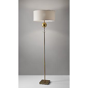 """20"""" X 20"""" X 69"""" Brass Metal Floor Lamp"""