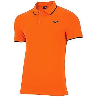 4F H4L19 TSM024 H4L19TSM024POMARACZ universell sommar män t-shirt