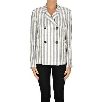 Massimo Alba Ezgl323010 Women's White/grey Linen Blazer