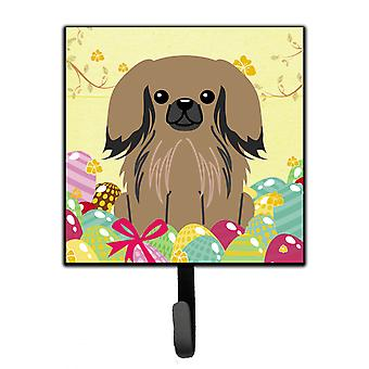 Carolines Treasures  BB6102SH4 Easter Eggs Pekingnese Tan Leash or Key Holder