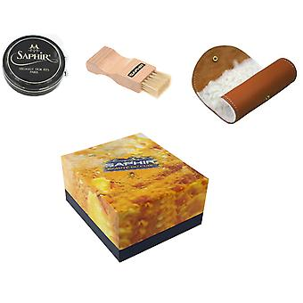 Saphir Luxury Shoe Care Gift Box 50ml Wax With Applicators-Navy
