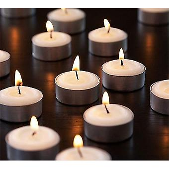 Tealights Candles Pack Of 100 White - 100 Paraffin Candles - Decoration Parties 4-hour Candles