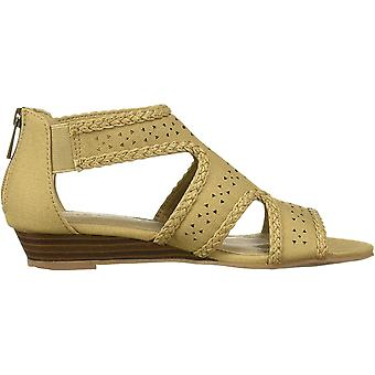 Easy Street Women's Thelma Dress Casual Sandal with Back Zipper Wedge