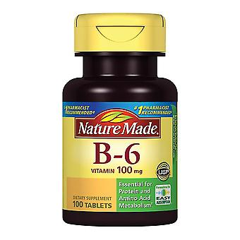 Nature made vitamin b6, 100 mg, tablets, 100 ea
