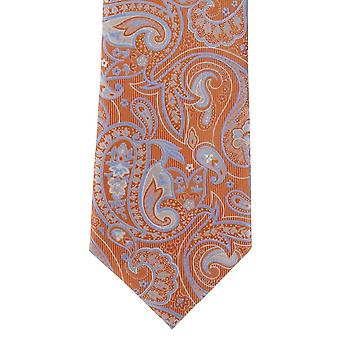 Michelsons Lontoon Springtime Paisley Polyesteri tie-oranssi