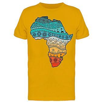 Värikäs Afrikan kartta Tee Men's -Image Shutterstock