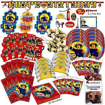Strażak Sam nowy projekt strony zestaw XL 93-teilig dla Gości 8 Strażak Sam urodziny party pakiet
