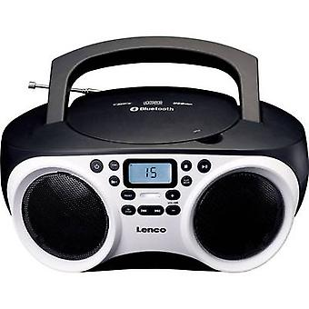 Lenco SCD-501 Radio CD-spelare FM AUX, Bluetooth, CD, USB Vit, Svart