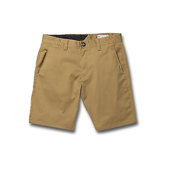 Volcom Men's Walk Shorts ~ Frickin Modern Stretch 19 khaki