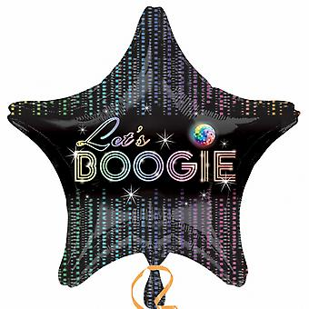Amscan 18 Inch Star Shaped Lets Boogie Disco Design Foil Balloon