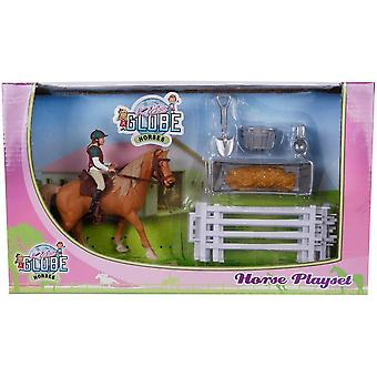 KidsGlobe  (Kids Globe) Kids Globe 1 Horse And Riders For Girls With Accessories 0073