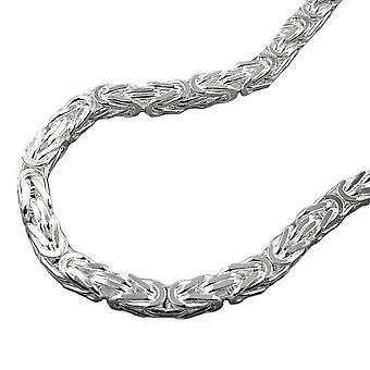 Kette ca.4mm Königskette vierkant glänzend Silber 925 50cm