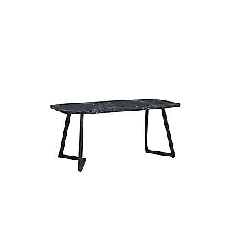 Table Tribus Color White, Black in MDF, Metal 180x90x76 cm