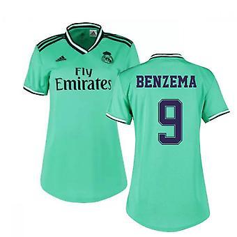 2019-2020 ريال مدريد أدداس المرأة القميص الثالث (BENZEMA 9)