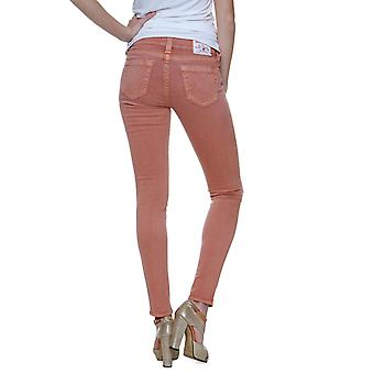 True Religion Pants Tube Slim HALL MID RISE SPR SKINNY Wash PX CORAL NEW