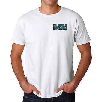 Argyll And Sutherland Highlanders Regimental Colours Embroidered Logo - Official Cotton T Shirt