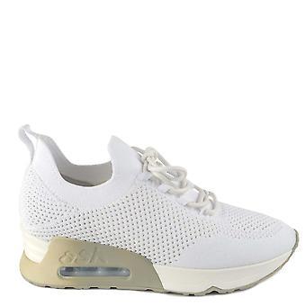 Ash Footwear Lunatic Bis White Knit Trainers