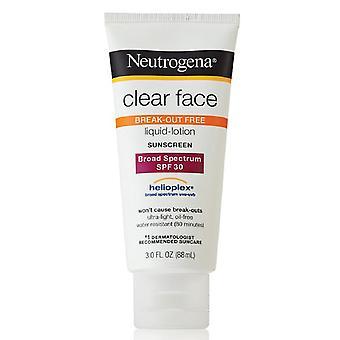 Neutrogena clear face sunscreen lotion, spf 30, 3 oz *