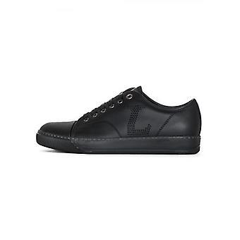 Lanvin Black 'L' Napa Leather Toe Cap Sneakers