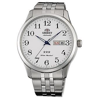 Orient 3 Star Watch FAB0B002W9 - Analógico Automático dos Cavalheiros de Aço Inoxidável
