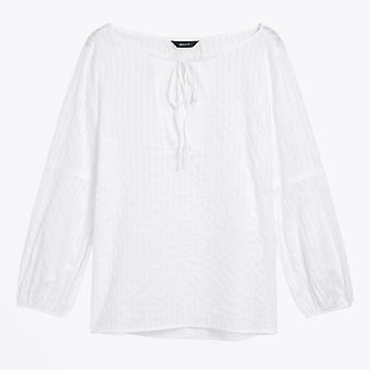 Gant  - Sateen Striped Blouse - White