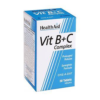 B- ja C-vitamiinikompleksi 30 tablettia