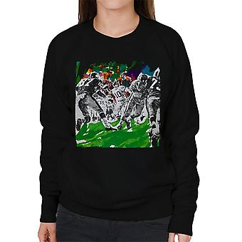 The Saturday Evening Post American Football Sketch Paul Calle Women's Sweatshirt