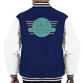 DJ International Records Cyan Logo Men's Varsity Jacket