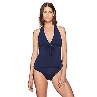 Marca - Coastal Blue Women's Control Swimwear Halter Cuello Tankini Top ...