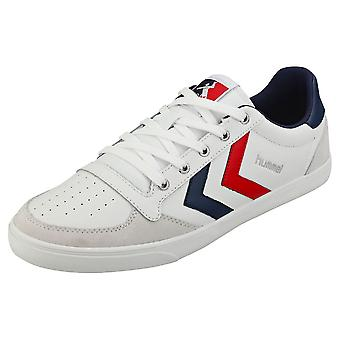hummel Slimmer Stadil Low Mens Casual Trainers in White Silver Blue