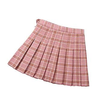 Women's High Waist Pleated Casual Tennis Style Skater Mini Skirt