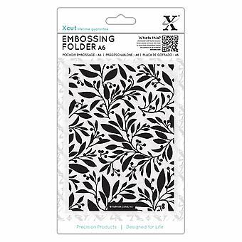 Xcut A6 Embossing Folder Festive Florals