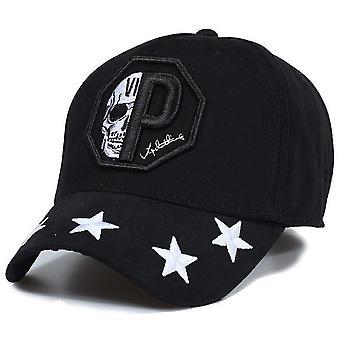 Baseball Cap - Skull Star- Black
