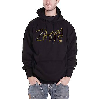 Frank Zappa Hoodie Apostrophe Logo Back Print new Official Mens Black Pullover