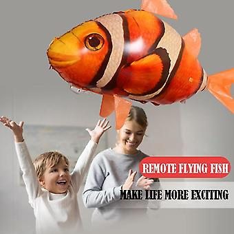 Remote Control Flying Shark Toy - Clown Nemo Fish Balloons  Inflatable Helium Rc Air Plane Drone
