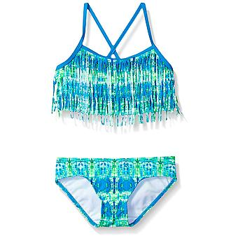 Kanu Surf Big Girls' Kelly Beach Sport Fringe 2-Piece Bikini Swimsuit, Kayla ...