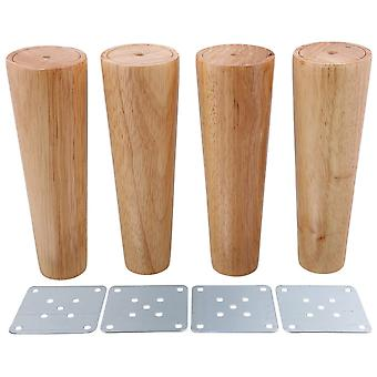 4pcs Wood Cone Furniture Foot Leg Feet 18*6*4cm