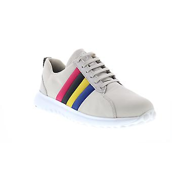 Camper Tws  Mens Gray Tan Canvas Lace Up Low Top Sneakers Shoes