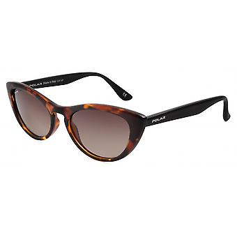 Sunglasses Women Polarized Flamed Brown/Black (P8000428)
