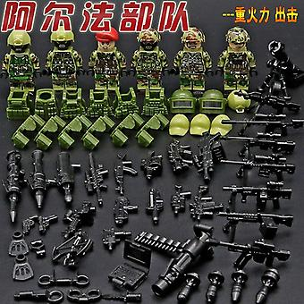 30pcs/set Ww2 Blocks Toys Soviet Soldiers Army Of Russia Troops American