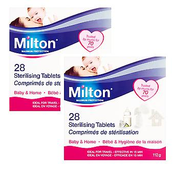 2 x 28 tablets Milton Sterilising Baby Bottles Teats Spoons Soothers Pacifier