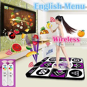 Original English Menu Single Dance Pad, Non-slip Yoga Mat + 2 Remote Controller
