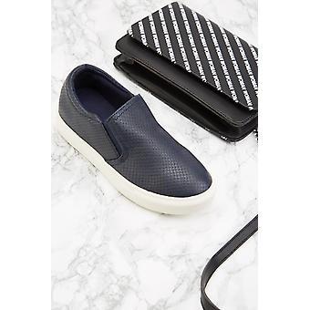 Slip-On Mock Croc Plimsolls
