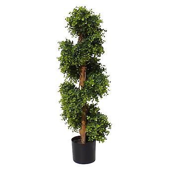 100cm Espiral Artificial árbol topiario aspecto natural uv protegido