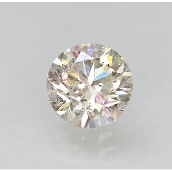 Certified 0.84 Carat H VS1 Round Brilliant Enhanced Natural Diamond 5.84mm 3VG