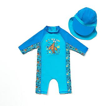 Bonverano Infant Boy UPF 50+ Protection solaire 3/4 Manches Zip Sunsuit